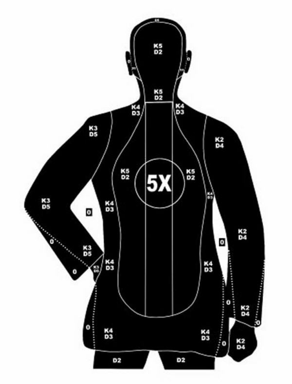 B-21 Police Shooting Targets 19X25 Silhouette Target-30 | eBay Police Shooting Target